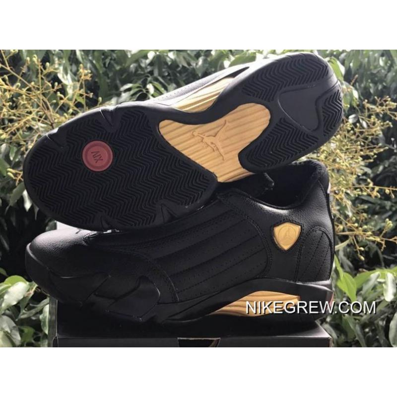 "timeless design 4de97 50973 ... Air Jordan 14 ""DMP"" Black Metallic Gold-Varsity Red For Sale ..."