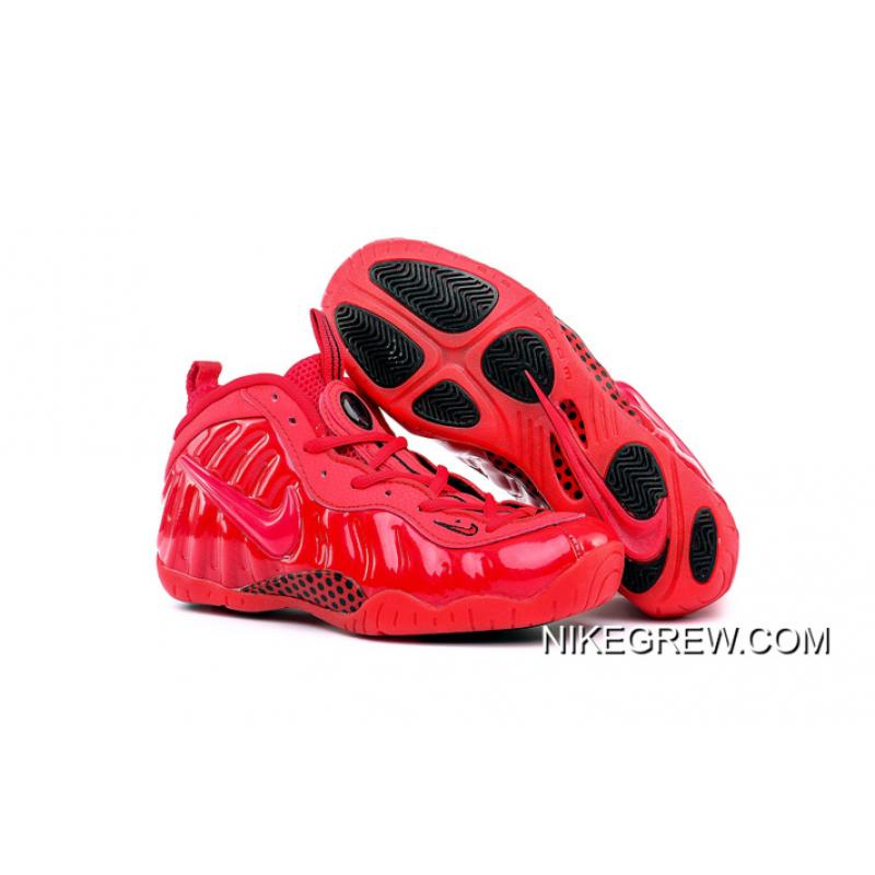 "133264450f755 Tax Free Girls Nike Air Foamposite Pro GS ""Gym Red"" ..."