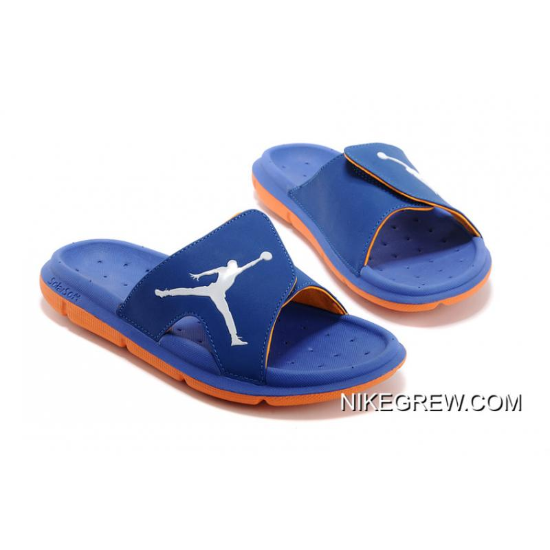 c496f2360f956 Air Jordan Hydro Slide Sandals French Blue Orange White Where To Buy ...