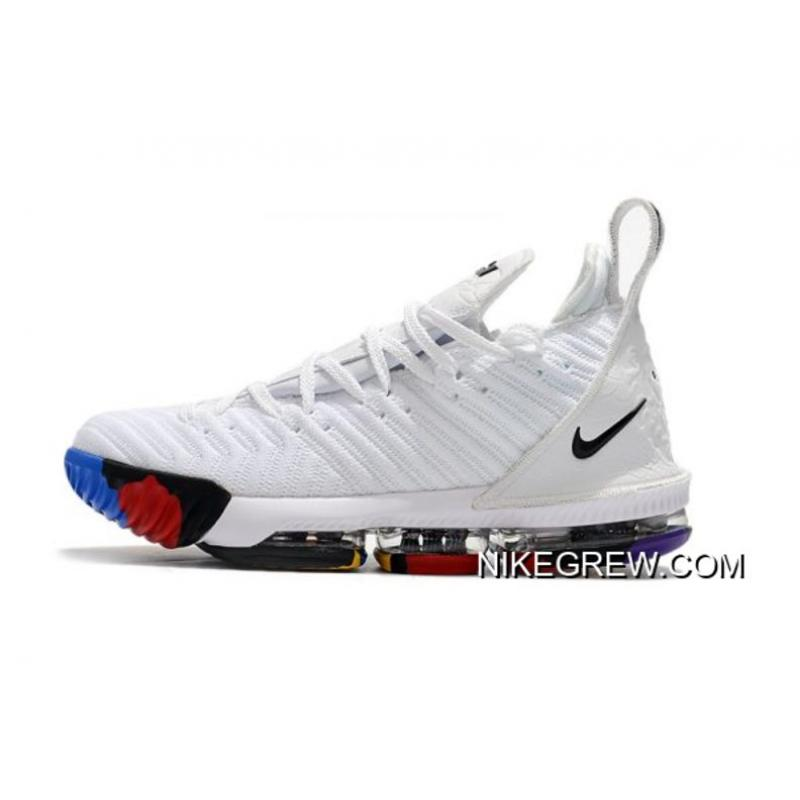 2e64f367149 Authentic Nike LeBron 16 White Multi-Color Men s Size ...