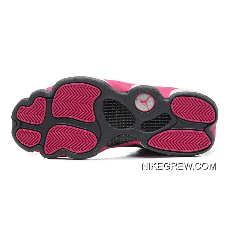 best service f58cd 1a861 ... Women Authentic New Air Jordan 13 GS Cool Grey Fusion Pink-White ...