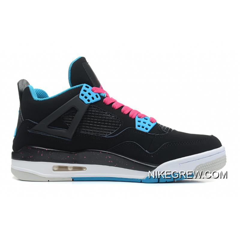 "the best attitude b12b6 90447 Women Men New Air Jordan 4 Retro ""South Beach"" Black Dynamic Blue ..."