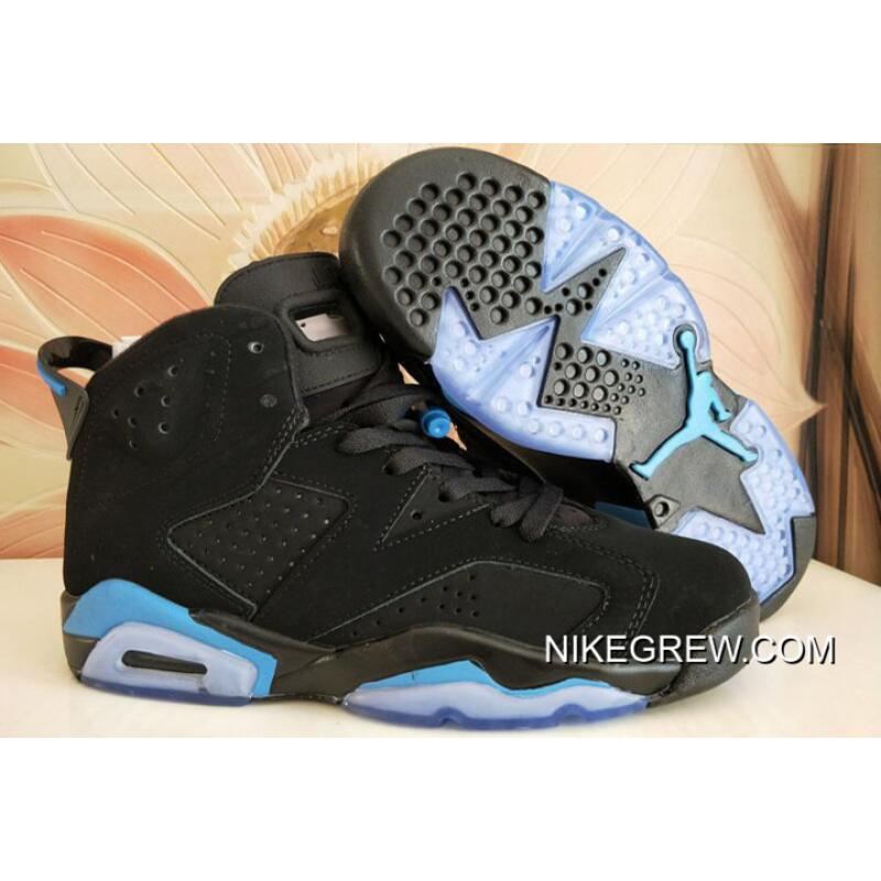 "9b4513e304d Women Air Jordan 6 GS ""UNC"" Black/University Blue Top Deals, Price ..."