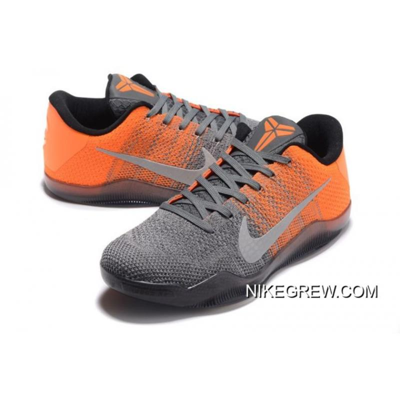 "5f7bf8b47f15 ... Nike Kobe 11 Elite Low ""Easter"" Grey Orange New Release ..."