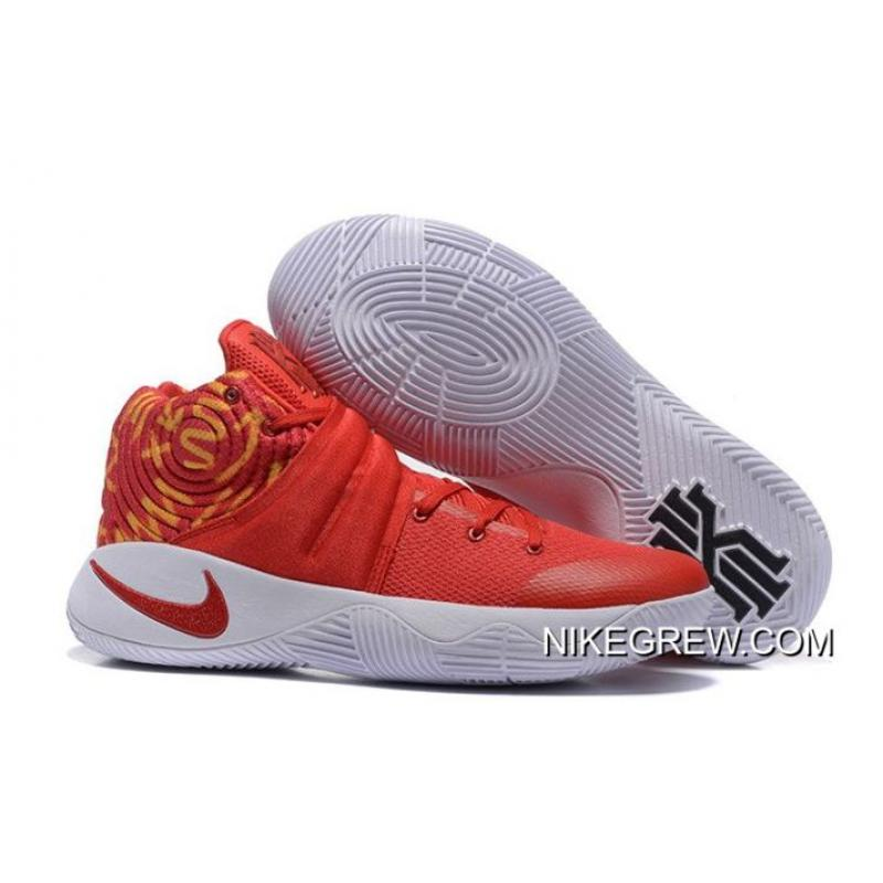 c1b231d84554 Nike Kyrie 2 Red White Basketball Shoes New Year Deals ...