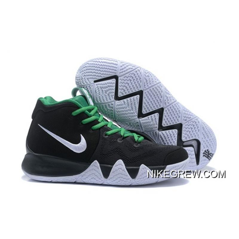 newest a45d4 98ed6 Nike Kyrie 4 Black White Green New Year Deals ...