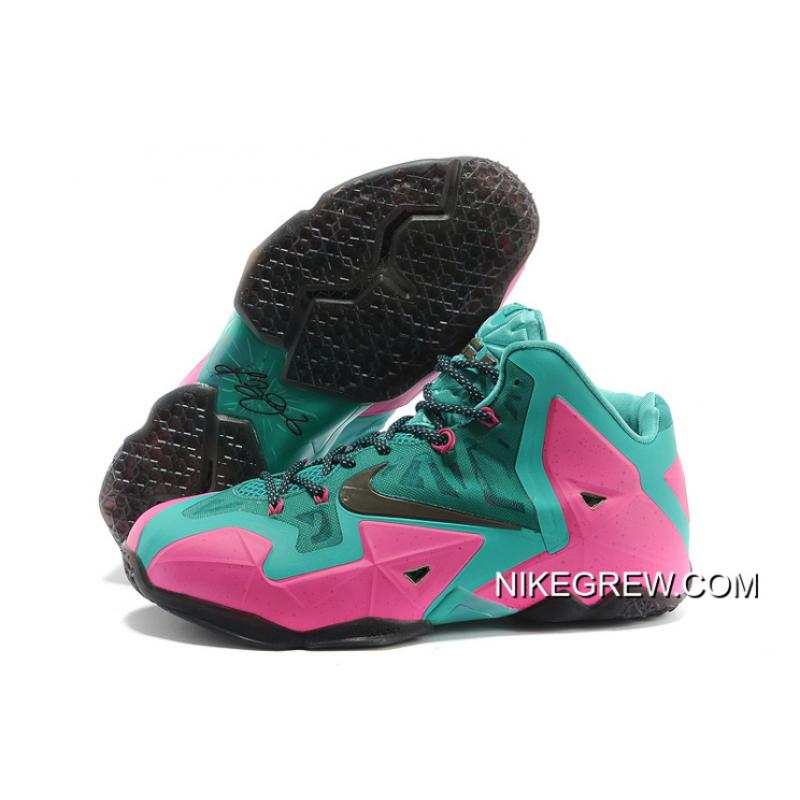 low priced 01d00 50625 Nike LeBron James 11 Pink New Green-Black Free Shipping ...