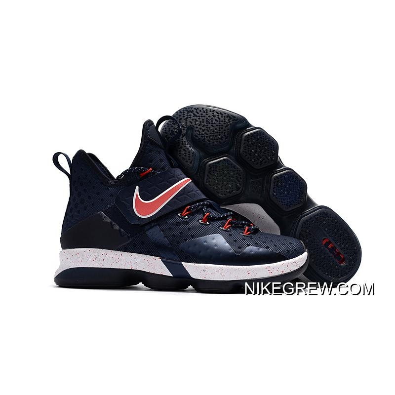 aae8857a2c2 Discount Nike LeBron 14 Navy Red-White ...