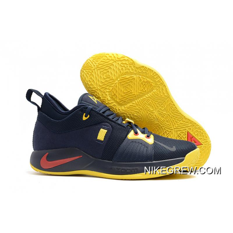 "premium selection 9ad28 db9e6 Online Nike PG 2 ""Cavs"" Deep Navy/Yellow-University Red"
