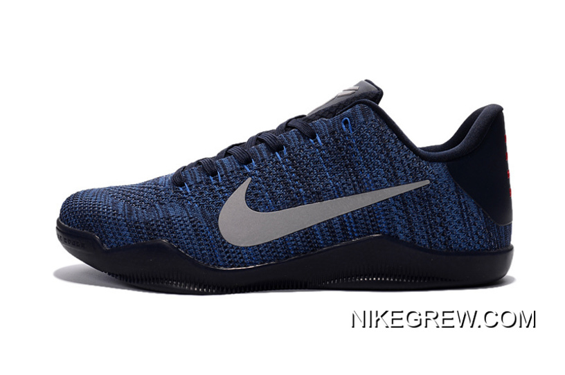 detailed look 8ffca 53852 Nike Kobe 11 Flyknit Blue Basketball Shoes Super Deals